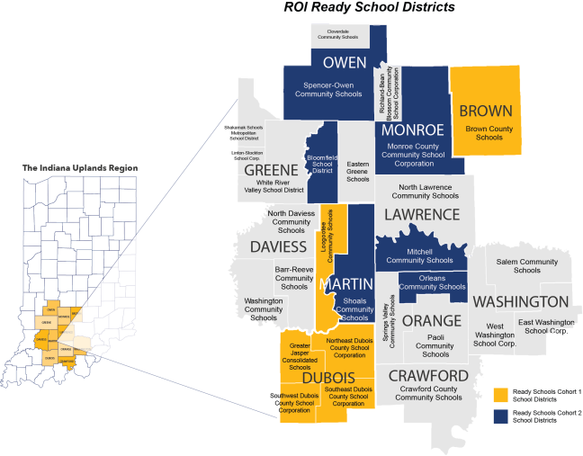 SWCI-SchoolDistricts-Ready-Schools-Both-Cohort-with-region-map